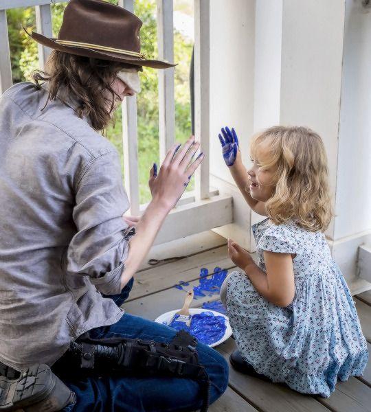 "Carl (Chandler Riggs) and Judith | Season 8:Episode 9 - ""Honor"""