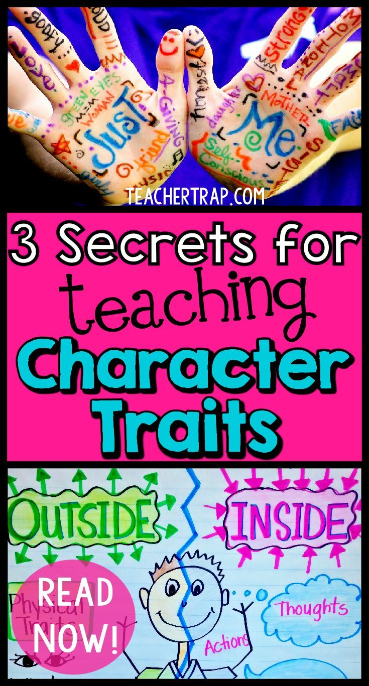 "Kids having trouble understanding character traits?  Read about the 3 secrets for teaching character traits so that the kids really ""get it."""