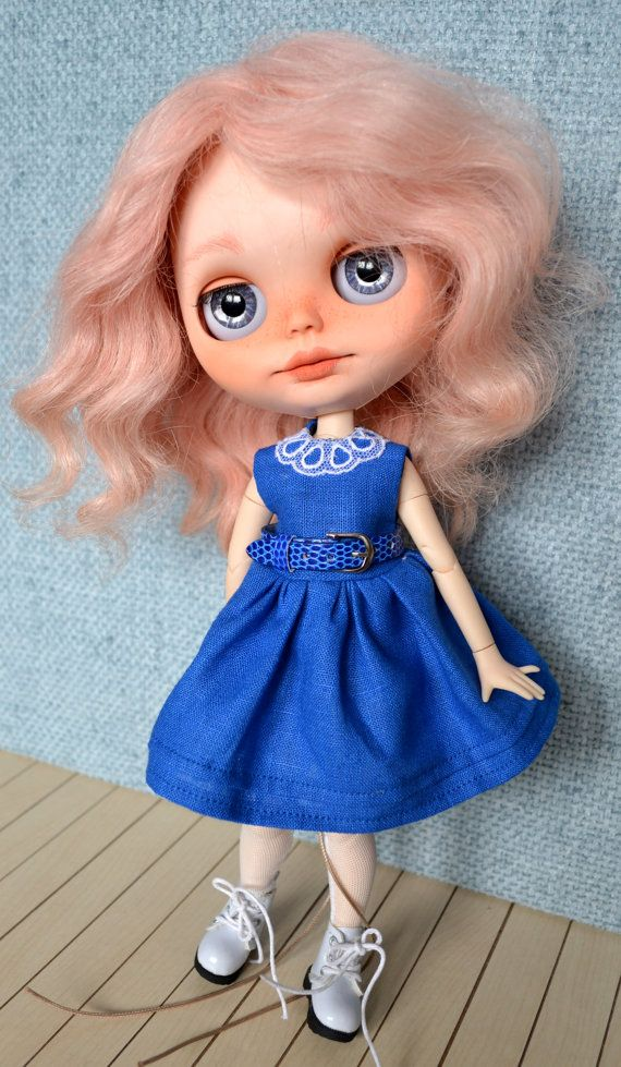 Handmade cotton dress  for Blythe and Pullip outfit