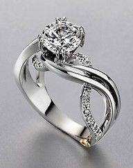 Different... Pretty ring...pinned by ♥ wootandhammy.com, thoughtful jewelry.