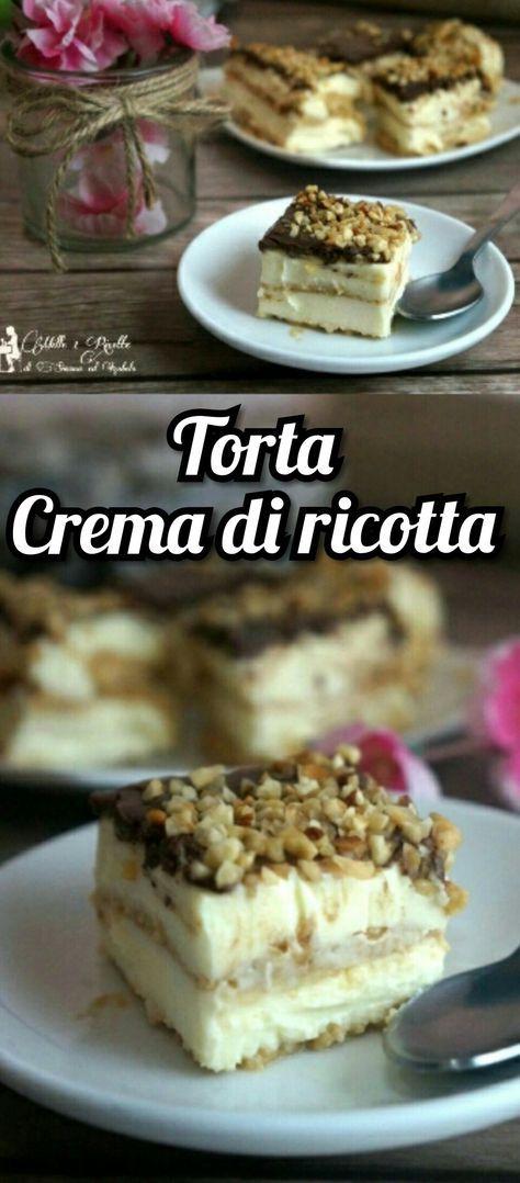 Torta crema di ricotta http://blog.giallozafferano.it/mille1ricette/torta-crema-di-ricotta/