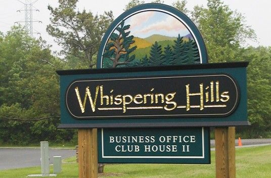Whispering Hills Club Sign / Danthonia Designs