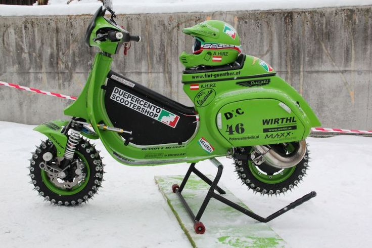 Vespa Ice Racer. Check your sanity at the gate.