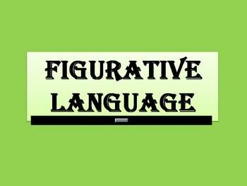 This is an animated PowerPoint presentation on figurative language. It introduces/reviews similies, metaphors, onomatopoeia, alliteration, hyperbol...