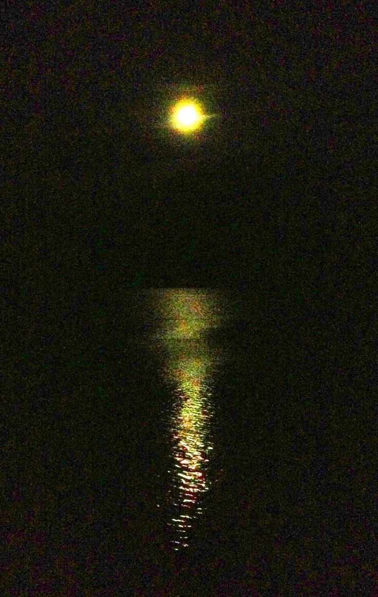 The #moon in the #sea, #Alghero #Italy