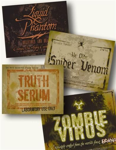 pinterest halloween soda labels