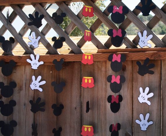 Mickey Mouse Birthday Party Hand Garland