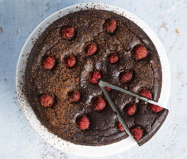 Surprise Chocolate Cake - get recipe here: http://www.dailymail.co.uk/health/article-3810684/Eat-beat-diabetes-Guilt-free-sweet-treats-scrumptious-puds-won-t-believe-low-sugar-never-need-buy-loaf-again.html