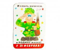 Магнит на холодильник фольгированный к 23 февраля ― www.2212.ru интернет-магазин компании Чижик-Пыжик. Сувениры, подарки изготовление и продажа.