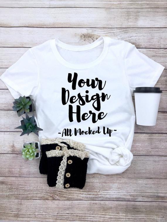 336ee0338 Next Level 1510 White Women's Cut T-shirt Tshirt Mock Up MockUp Image -  Flat Lay Image - Flatlay   Products   Shirts, Mockup, White women
