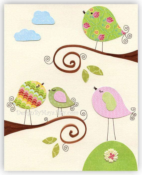 Arte de la pared de la guardería sala de niña Baby por DesignByMaya