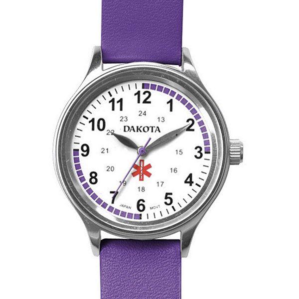 Dakota Women S Fun Color Nurse Watch Purple Blue Leather Watch Nurse Watch Leather