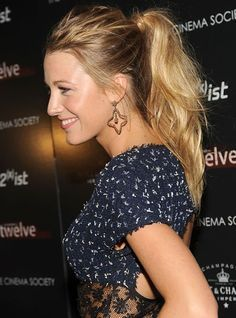 Image result for blake lively ponytail                                                                                                                                                                                 Mehr
