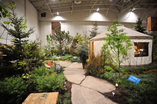 """""""REWilding"""" by Parklane Nurseries, photo by David Ohashi. """"Rewilding pays tribute to a group on Lake Simcoe whose mission is to advance water thinking, engage people and create ripples."""""""