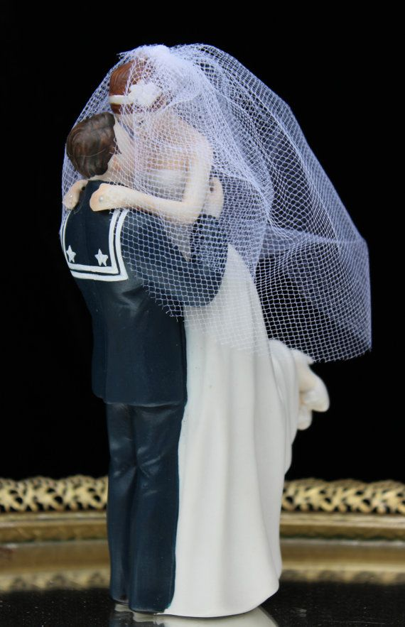 Military USN Navy Sailor Wedding Cake Topper by CarolinaCarla, $49.88