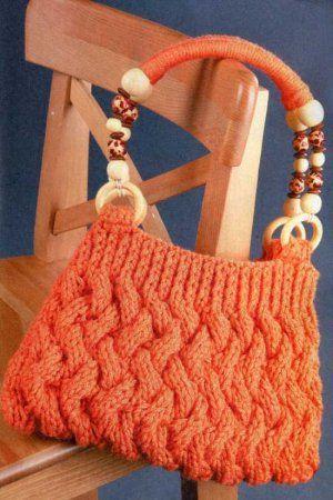 Оранжевая сумка с плетеным узором
