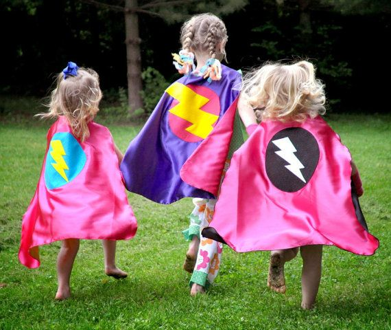GIRLS SUPER HERO cape -Choose from 3 designs - Girl birthday gift - Super hero party capes on Etsy, $28.00