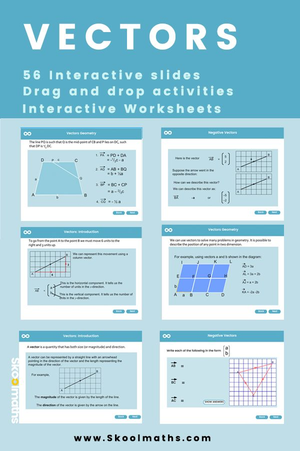 New Math Lesson For Gcse Learners On Vectors With Dynamic Content That Will Motivate And Engage Learners Gcse Math Gcse Maths Revision Math Vector