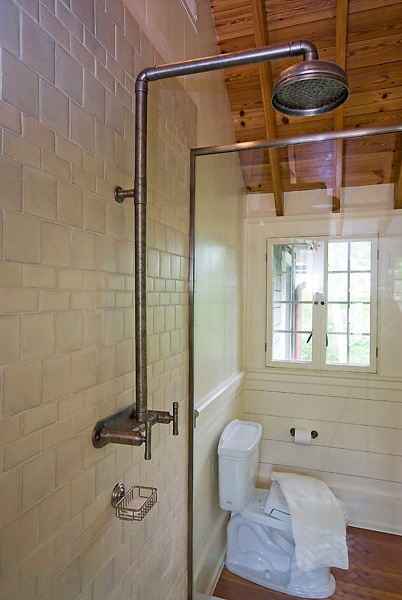 102 best images about waterbridge exposed shower systems for Copper pipe shower