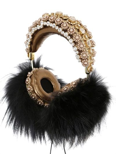 DOLCE & GABBANA FRENDS EMBELLISHED HEADPHONES - LUXURY SHOPPING WORLDWIDE SHIPPING – FLORENCE