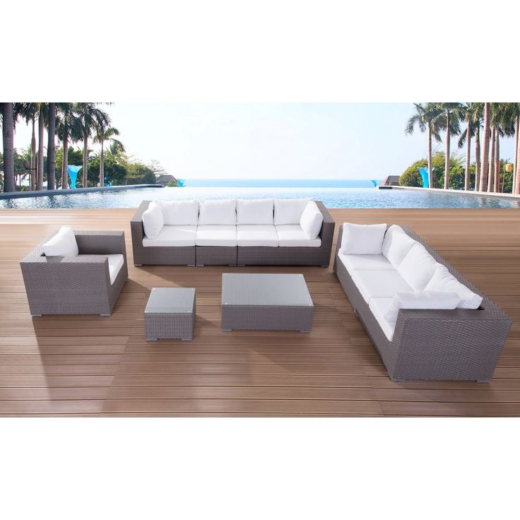 Cool Modern Outdoor Furniture Maestro Wicker Lounge Set Overstock Shopping Big Discounts on Beliani