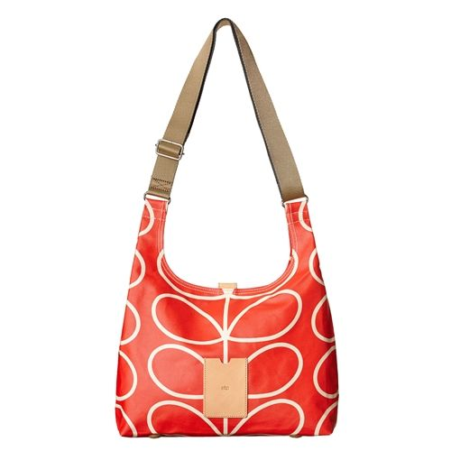 Orla Kiely ETC Midi Sling Giant Linear Stem Bag vermillion