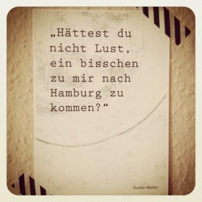 Hamburg - Gustav Mahler #Schnack #EuropaPassage #EuropaPassageHamburg