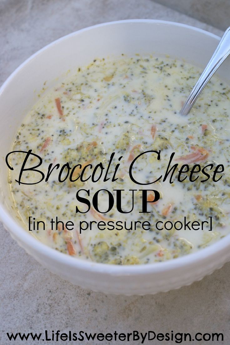 A creamy, cheesy Broccoli Cheese Soup recipe made in your pressure cooker at home is easier than you think! This soup will blow you away!