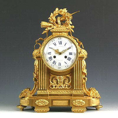 French Louis XVI Ormolu Clock. Circa 1780