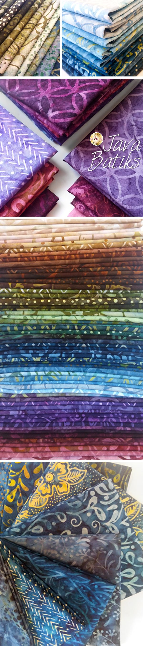 Java Batiks by Maywood Studio is a beautiful batik collection available at Shabby Fabrics!