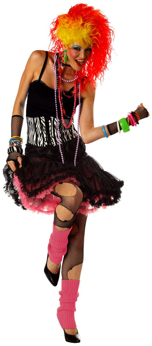adult 80s party girl costume - 80s Dancer Halloween Costume