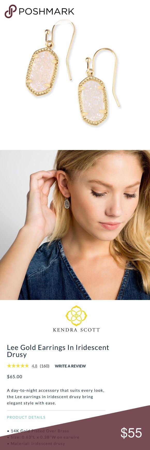 💋SALE. Kendra Scott Earrings #LeeGold NWT Kendra Scott Jewelry Earrings