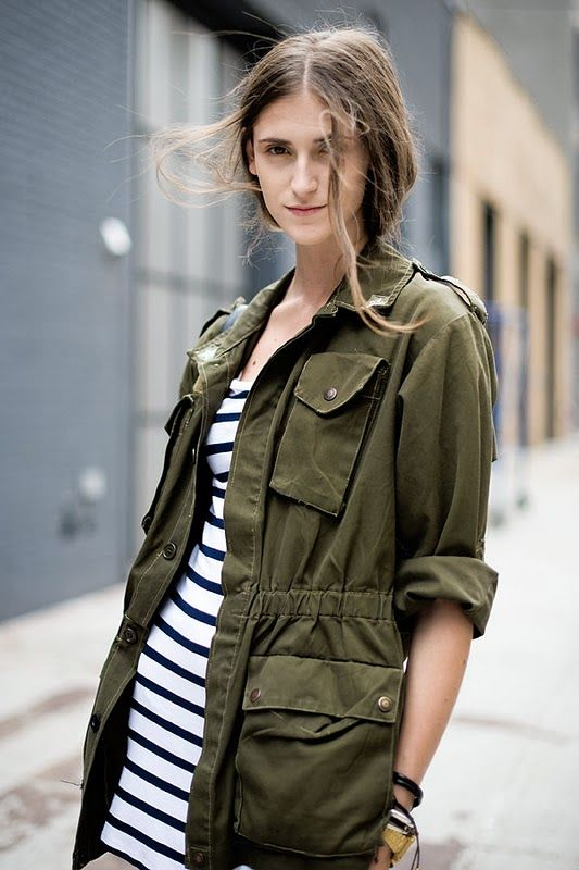 54 best ideas about Army Green Jacket Style on Pinterest | Leather ...