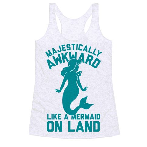 Majestically Awkward Like A Mermaid On Land - This funny mermaid shirt is for all awkward nerds who know they're got something special, majestically awkward, like a mermaid on land. Awkward but beautiful? This awkward shirt is perfect for fans of mermaid memes, awkward quotes and awkward memes.