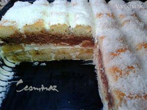 Jogurtovo-piškótový dezert z chladničky (fotorecept)