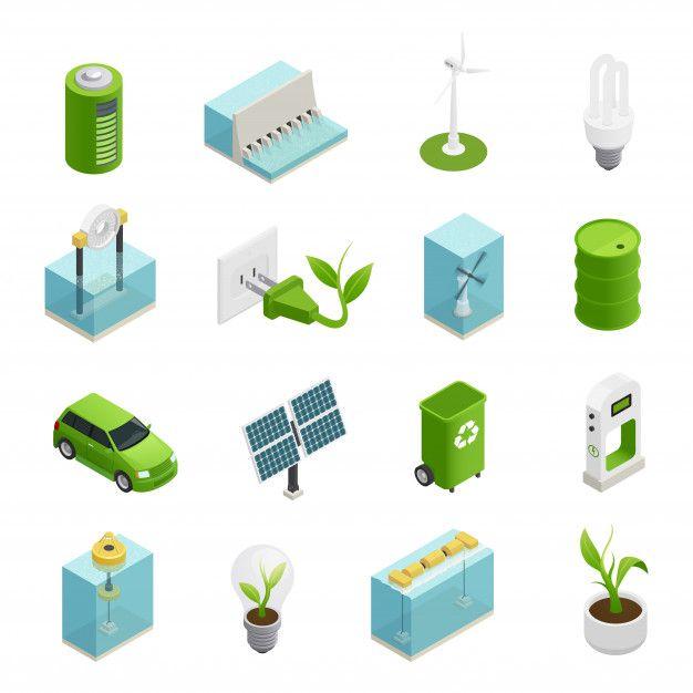 Download Ecology Energy Isometric Icons Set For Free Isometric Isometric Design Renewable Sources Of Energy
