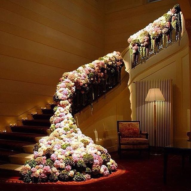 444 best wedding staircases decor images on pinterest wedding floral staircase for a wedding junglespirit Images