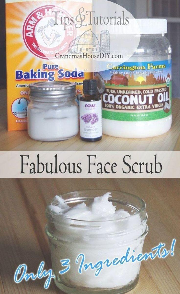 A wonderful face scrub wash recipe made out of baking soda