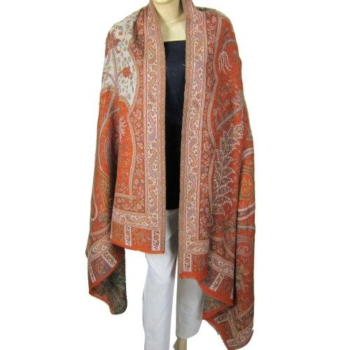 Motif cachemire châle en laine en provenance d'Inde: Amazon.fr: Vêtements et accessoires