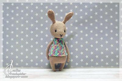 Lalka Crochetka: Spring Bunny ... Wiosenny Króliczek
