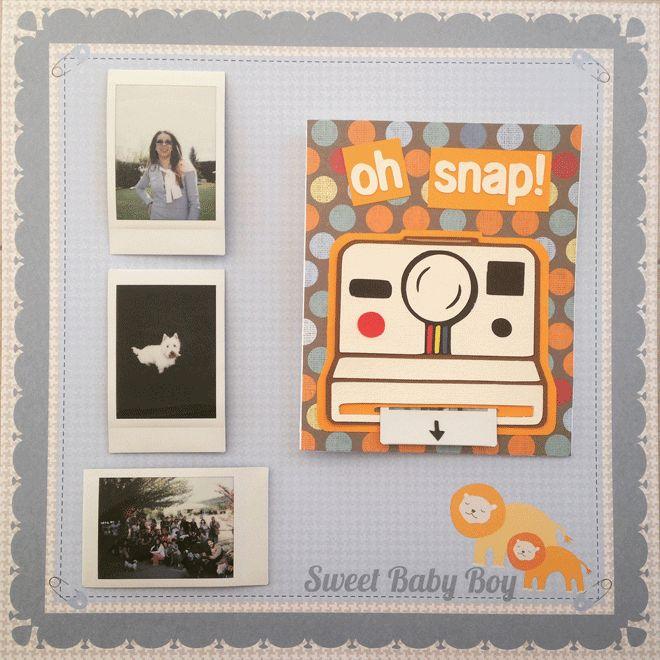 Κάρτα polaroid με φωτογραφία Polaroid card with photo
