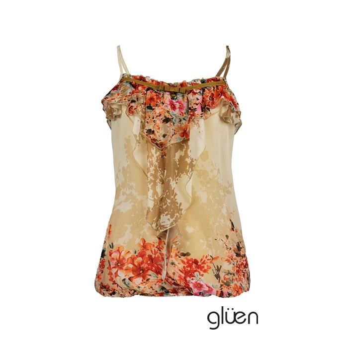 Silk flowered top.