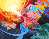 Paintings I by James Roper, via Behance: James Of Arci, Cool Paintings, Vector Graphics, Colors Art, James Roper, Comic Art, Fine Art Paintings, Abstract Paintings, Behance Network