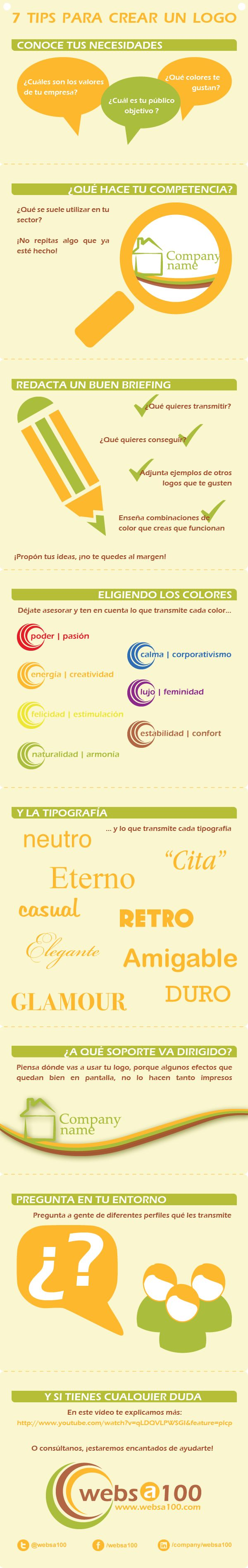 7 consejos para crear un logo #infografia #infographic #marketing #design