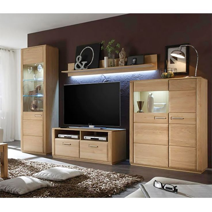 die besten 25 wohnwand eiche ideen auf pinterest. Black Bedroom Furniture Sets. Home Design Ideas