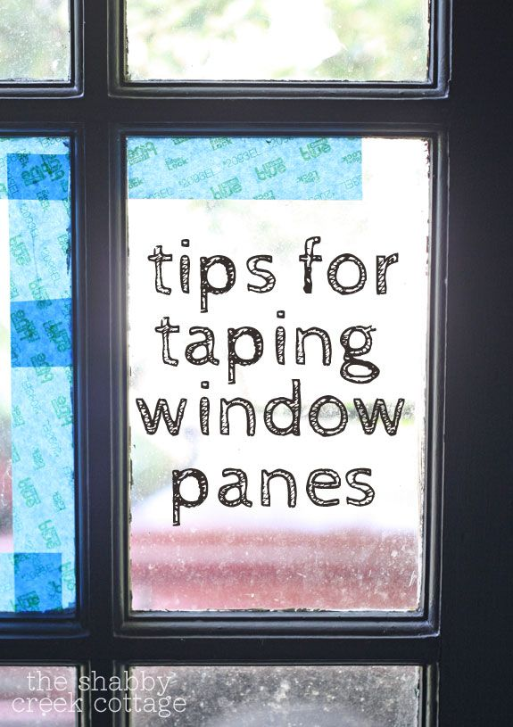 Easy tips for taping window panes, making it faster and easier to paint doors and windows.