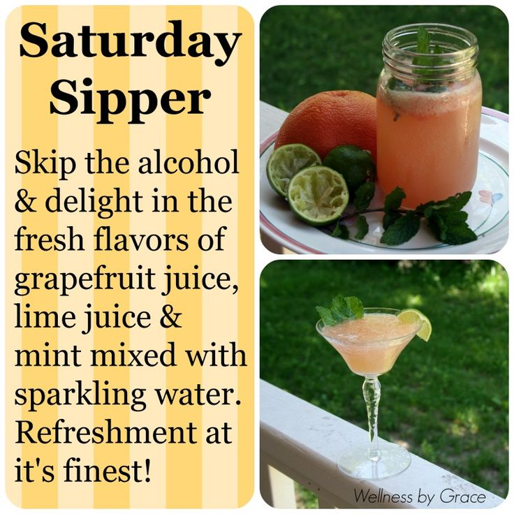 and refreshing! Grapefruit juice, lime juice, mint & sparkling ...