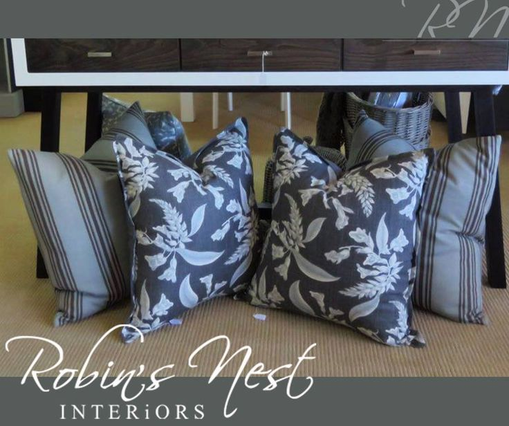 Scatter cushions are such fabulous accessories that add colour, dimension and character to furniture and a room, like these gorgeous ones available at #RobinsNestInteriors. #interiordesign #decor