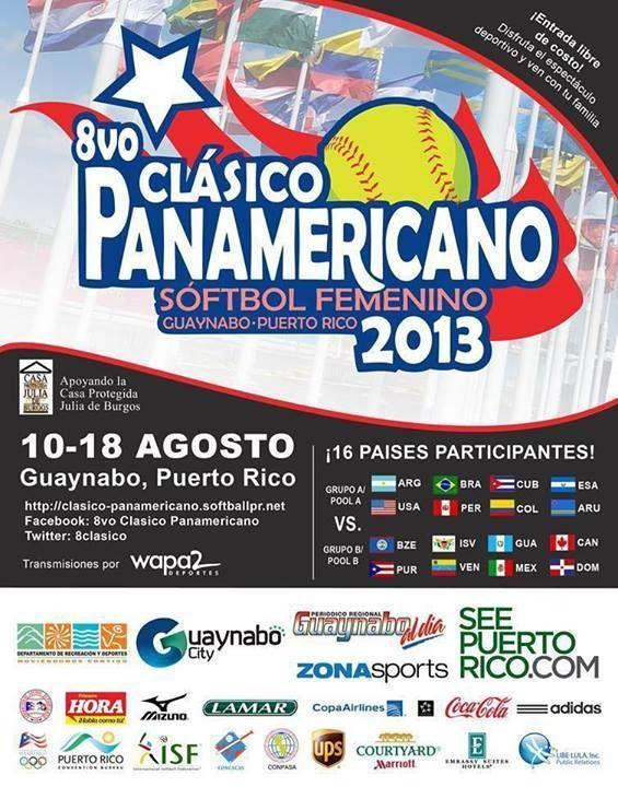 8vo Clásico Panamericano de SóftbolFemenino @ Guaynabo #sondeaquipr #clasicopanamericanosoftbolfemenino #guaynabo #deportes