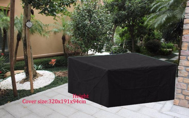 Free shipping 320x191x94cm Sectional sofa Cover ,Black color durable fabric,waterproofed/dust proofed outdoor furniture cover